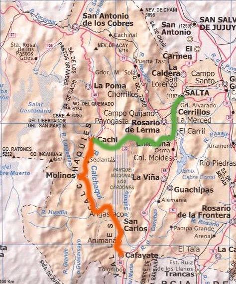 Ruta nacional 40 Cachi-Cafayate